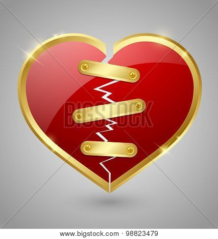 Broken And Repaired Heart Icon
