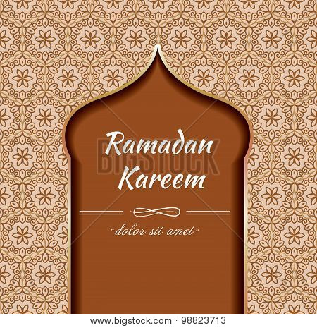 Ramadan background. Ramadan Kareem vintage ornament card background