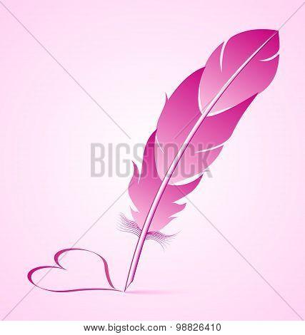 Valentine's Goose Quill