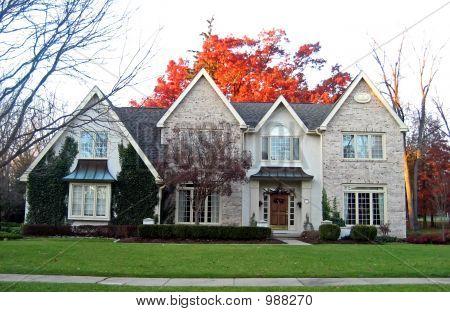 Elegant House In Autumn