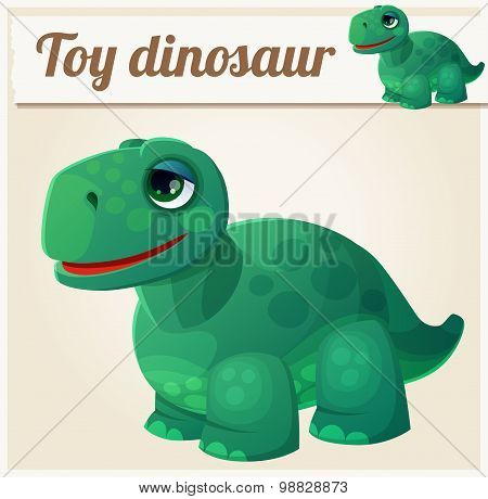 Toy dinosaur 4. Cartoon vector illustration. Series of children's toys