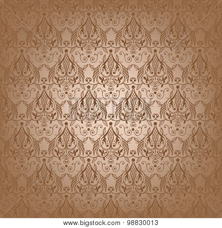 Vector illustration of damask seamless pattern.