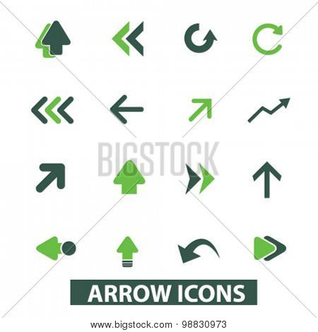 arrow, directions icons, signs, illustrations