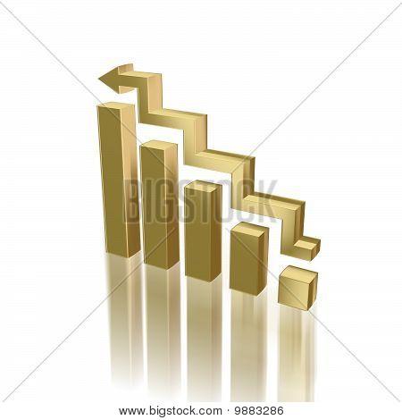 Golden Diagram - Business, Success Concept