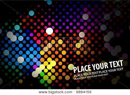 Digital program code of beautifull, vector illustration. poster