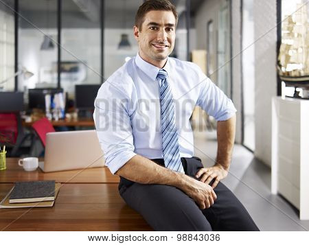 Portrait Of Caucasian Businessman
