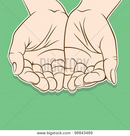 empty open hand design