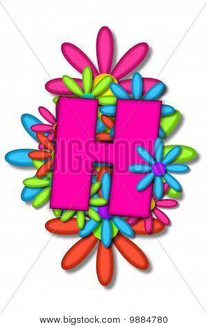 Alphabet Flower Cushion H