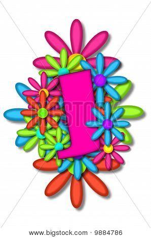Alphabet Flower Cushion J