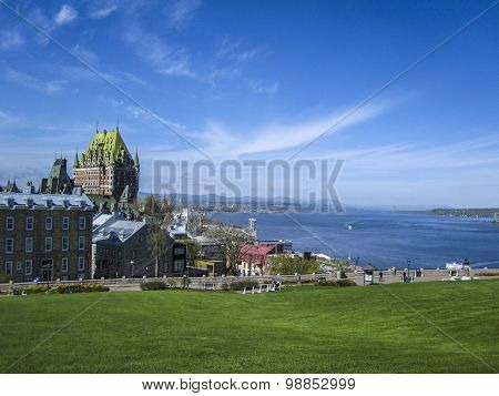 View of old Quebec and the Chateau Frontenac, Canada.