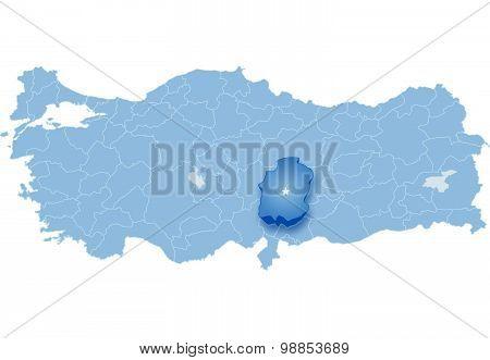 Map Of Turkey, Kahramanmaras