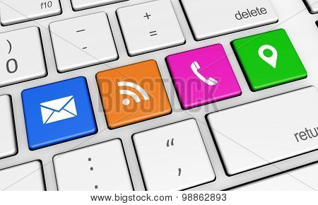 Contact Us Web Connection Keyboard