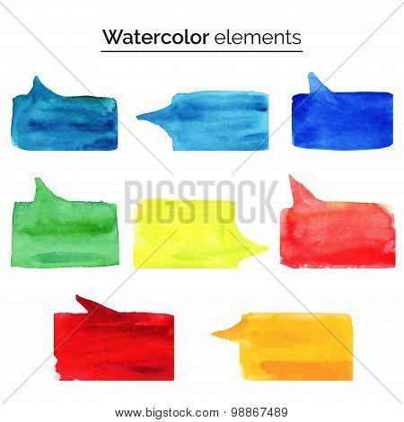 Vector illustration. Watercolor design elements.