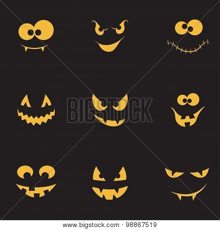 Creepy Faces Set