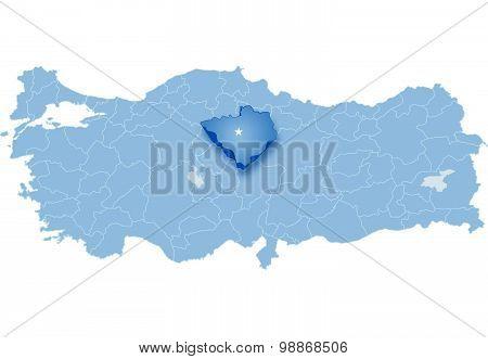 Map Of Turkey, Yozgat