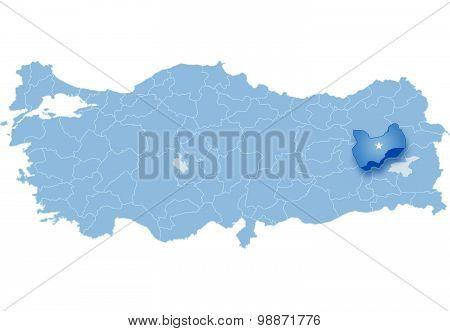 Map Of Turkey, Mus