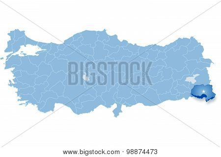 Map Of Turkey, Hakkari