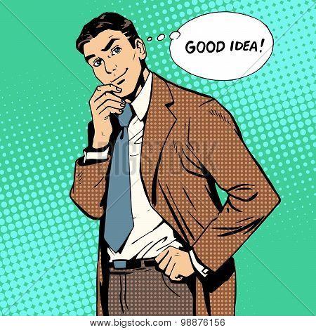 good idea businessman creative work