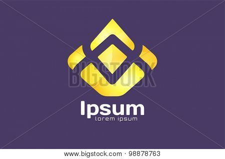 Crown abstract logo vector template. Hotel logo. Kings symbol. Power shape icon. Business laders, boss, premium quality. Queen crown.