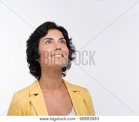 Adult smiling woman