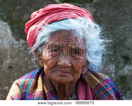 Nepalese Old Woman