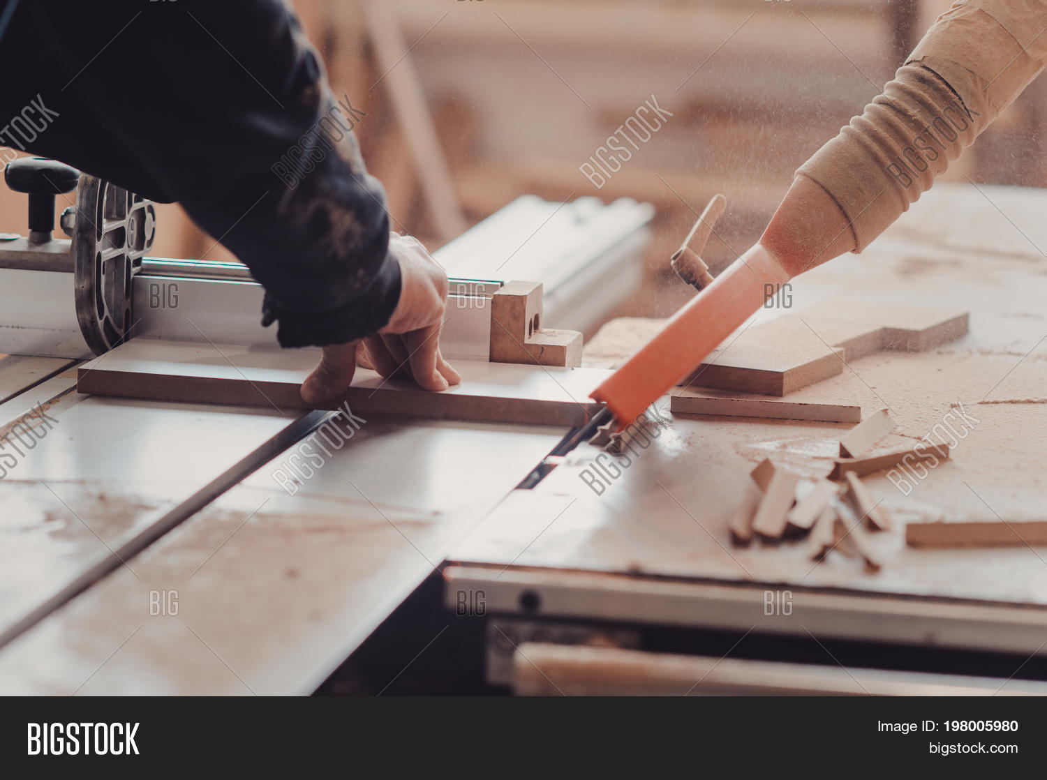 Carpenter Works On Image Photo Free Trial Bigstock
