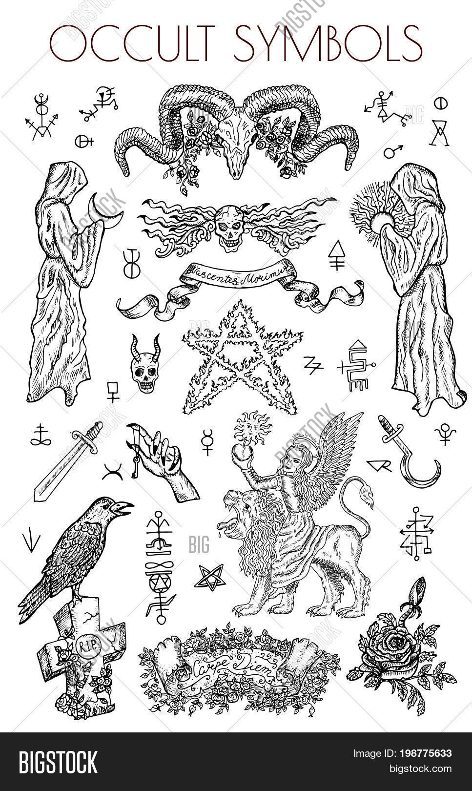 Graphic Set Occult Vector Photo Free Trial Bigstock