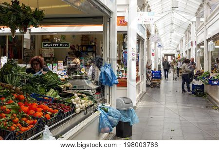 Rome Italy march 24 2017: the new Testaccio Neighborhood market in Rome Italy