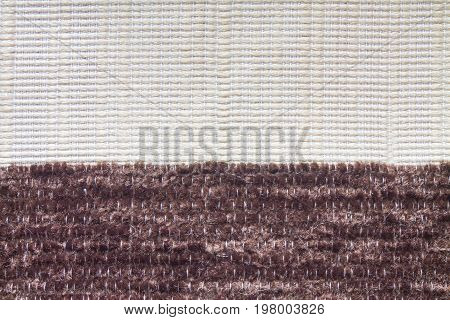 Texture Of White And Brown Polyester Fabric
