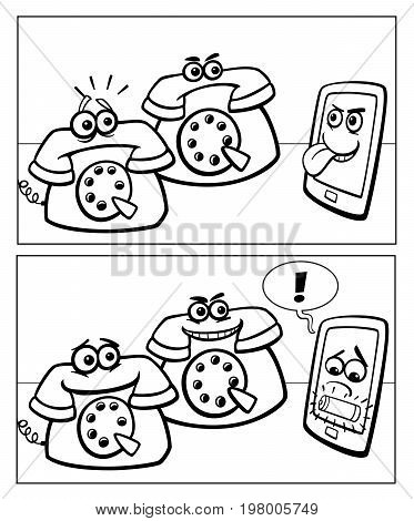 Phones And Smart Phone Comics