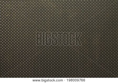 Background of black polyvinyl chloride with a texture