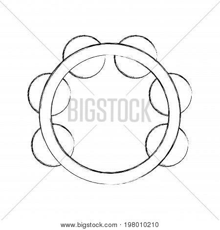 tambourine musical instrument icon vector illustration design