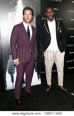 NEW YORK-JUL 31: Matthew McConaughey (L) and Idris Elba attend