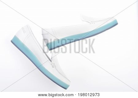 Sports Footwear For Women In White Colour, Top View