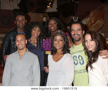 LOS ANGELES - MAR 24:D McCrary, A Conwell, J  Mitchell, Bryton James, Tonya Lee Williams, Kristoff St John, Christel Khalil Hensley at the 38th AnnivParty at CBS on March 24, 2011 in Los Angeles, CA