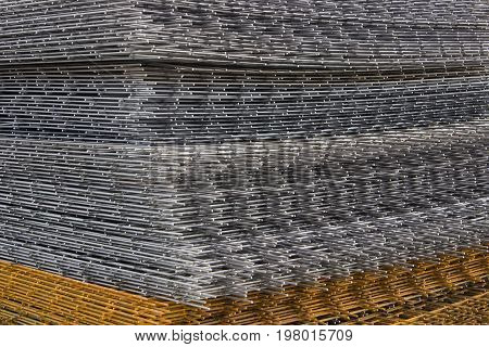 Reinforcement Steel Mesh Background