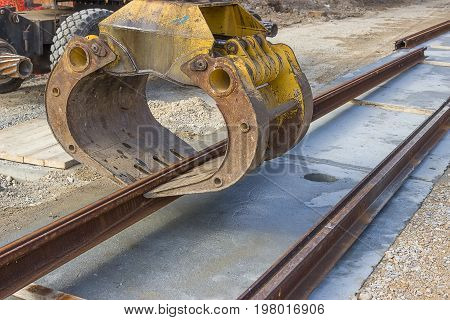 Tram Rail Track Installation Machine