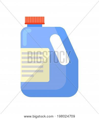 Detergent bottle isolated icon in flat style. House cleaning tool, housework supplies vector illustration