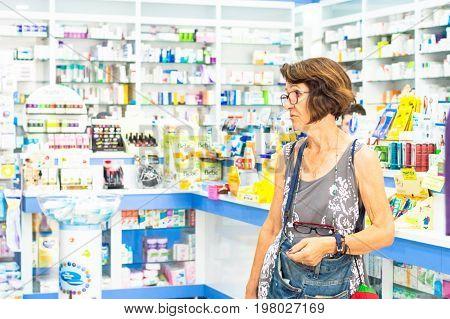Eskisehir, Turkey - June 14, 2017: Senior Skeptical Caucasian Woman Looking Suspicious And Surprised