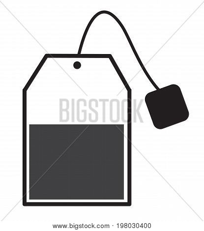 tea bag sign. tea bag icon on white background. flat style design.