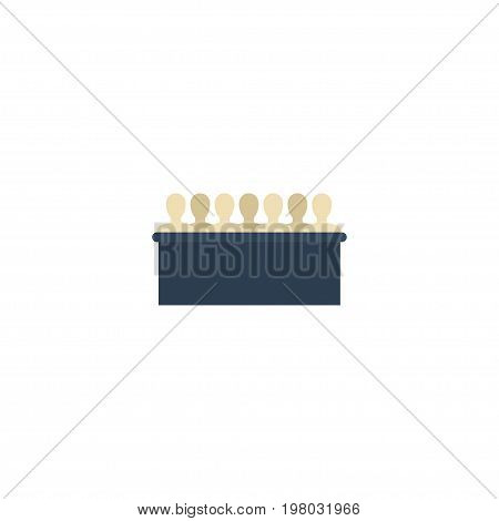 Flat Icon Jurors Element. Vector Illustration Of Flat Icon Jury Isolated On Clean Background