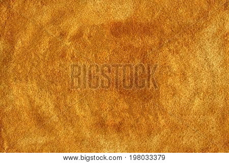 Abstract Pattern With Hand Painted Golden Texture.