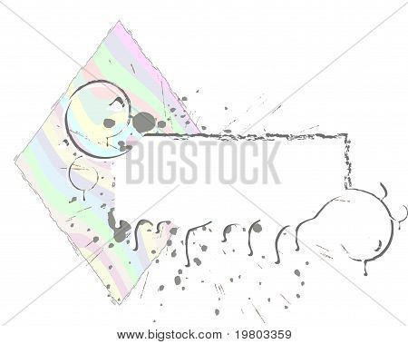 Abstract Rainbow Grunge Frame