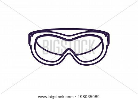 Safety glasses isolated vector icon. Outdoor activity, nature traveling equipment element.