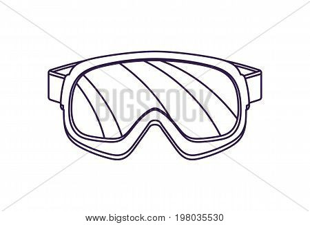 Touristic safety glasses isolated vector icon. Outdoor activity, nature traveling equipment element.