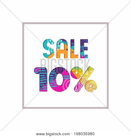 Sale 10% Off Color Quote For Business Discount