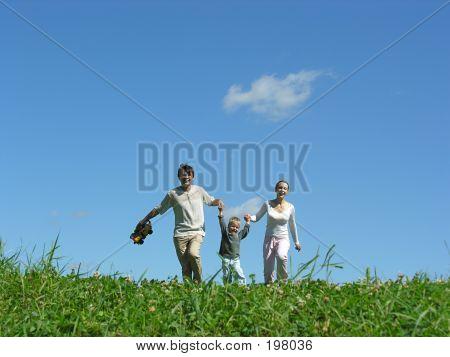 Family Run Sunny Day
