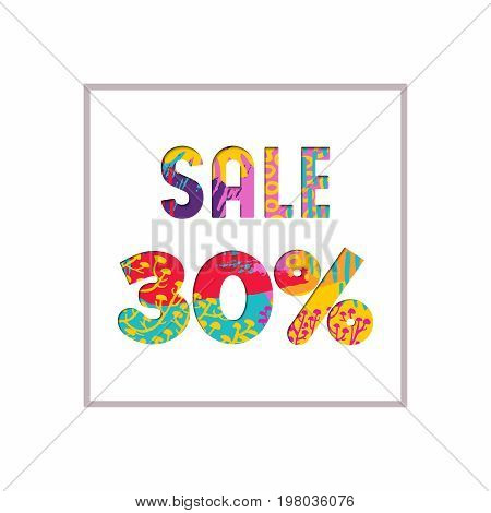 Sale 30% Off Color Quote For Business Discount