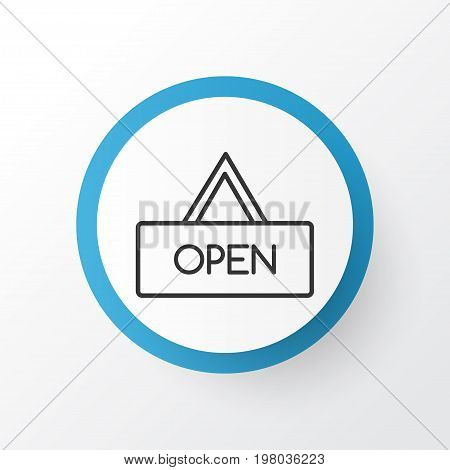 Premium Quality Isolated Board Element In Trendy Style.  Opened Placard Icon Symbol.