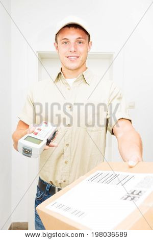 delivery person bringing you your latest online order.
